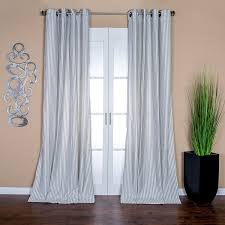 Pale Blue Curtains Lambrequin Stripe Linen Blend Curtain Panel 96 L
