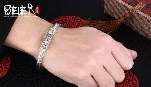 man hand bracelet images Thailand import hand chain beier 925 sterling silver bracelet pure jpg