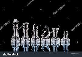 Glass Chess Boards Six Main Pieces Glass Chess Set Stock Photo 60784225 Shutterstock