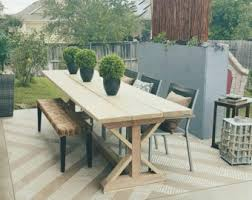Outdoor Patio Dining Table Outdoor Dining Table Etsy