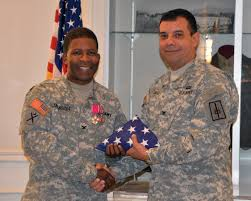 Army Service Flag Colonel Trevor Jackson Rockland County Soldier Retires
