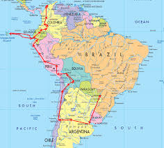 South America Map With Capitals by Map Of South America U2013 Gone Gallivanting