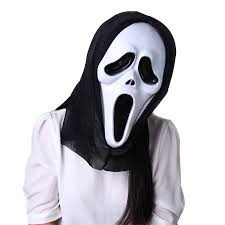 Halloween Costumes Scream Mask Halloween Themed Trick Toy Devil Mask Horror Props Scream Mask
