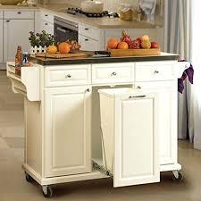 Kitchen Cupboard Garbage Bins by Kitchen Island Kitchen Island With Tilt Out Trash Can White
