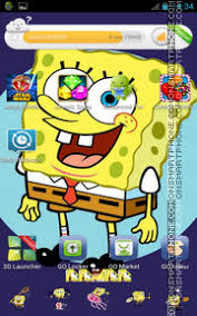 go launcher themes spongebob download spongebob squarepants for android theme 124691