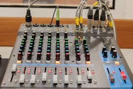 chambre d enregistrement mélangeur dans la chambre d enregistrement image stock image