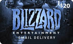 battlenet prepaid card 20 blizzard entertainment battle net gift card with email delivery