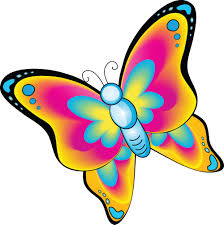 butterfly clipart cute cartoon pencil color butterfly