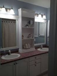 Large Bathroom Mirror Ideas Revamp Large Bathroom Mirror Frame With A Shelf Down The Middle