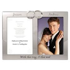 personalized wedding photo frame rings photo wedding frame