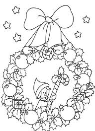 free coloring pages christmas wreath christmas coloring pages of