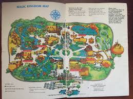 magic kingdom disney map your guide to the magic kingdom 1983 walt disney