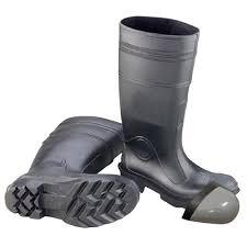 womens steel toe boots size 11 enguard s size 11 pvc steel toe waterproof boots black egst
