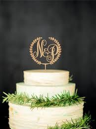 gold monogram cake topper wooden monogram cake topper custom initial cake topper wedding