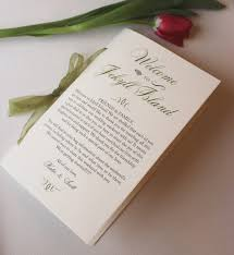 Wedding Programs Sample Wedding Programs Welcome Wedding Booklet Wedding Welcome