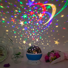 Rotating Night Light Projector Romantic Rotating Spin Night Light Projector Cosmos Sky Star Moon