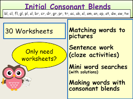 phonics initial consonant blends worksheets by ro milli0110