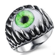 men rock rings images Elegant green opal inlaid man ring personalized cat eye design jpg