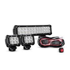 Led Light Bar Wiring Harness by Nilight 2pcs 4 Inch 18w Flood Led Light Bars Off Road Wiring