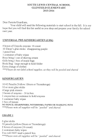 How To Start A Resume For A Job by South Lewis Central 2015 Supply List