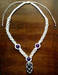 crystal necklace patterns images Attractive macram necklace patterns fashion forth jpg