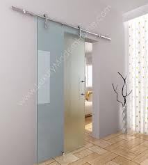 Barn Doors For Bathrooms by Berlin 1 Frameless Sliding Glass Barn Door Hardware Only