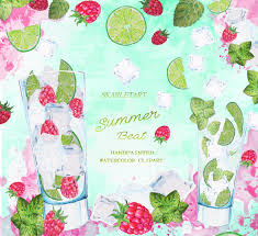 holiday cocktails clipart watercolor clipart cocktail drinks holiday citrus lime fruits