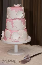 flower fondant cakes c u0026a u0027s flower applique wedding cake crummb