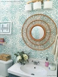 Bathroom Wall Stencil Ideas 382 Best Stencilling Images On Pinterest Wall Stenciling Damask