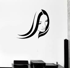 details about woman beauty hair lady wall art decor vinyl sticker details about vinyl decal beauty salon woman girl hair stylist spa wall stickers mural