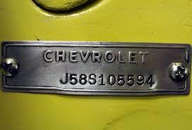 1969 corvette vin decoder 1958 corvette vin tag pictures corvetteforum chevrolet