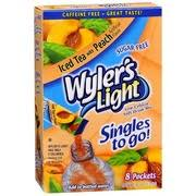 wyler s light singles to go nutritional information wyler s light drink mix low calorie soft iced tea with peach