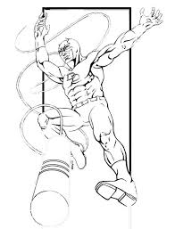 printable coloring pages daredevil superheroes superheroes