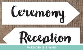 wedding signs template downloadable printables