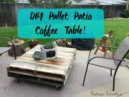 How To Make Pallet Patio Furniture by Diy Pallet Patio Coffee Table Vintage Frontier