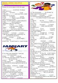 verbs multiple choice