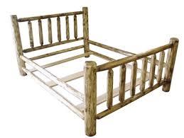 Cheap Log Bed Frames Rustic Cedar Log Bed Free Shipping