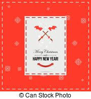 Happy New Year Invitation Clip Art Vector Of Merry Christmas And Happy New Year Invitation