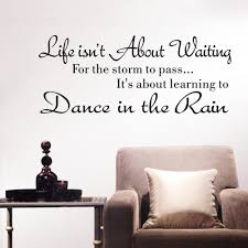 compare prices on dance quotes wall stickers online shopping buy simple and stylish english words stickers life isn t about waiting wall stickers quote dancing the in rain wall decal for room