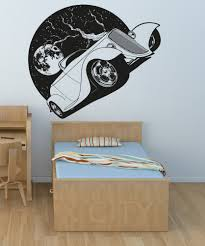 online get cheap wall art interior aliexpress com alibaba group cool roadster full moon night driving decal wall art vinyl sticker home living room dorm office