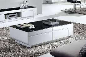 Black Gloss Glass Coffee Table Modern White Coffee Table Fetchmobile Co