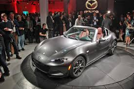 girly sports cars mazda puts a lid on it new mazda mx 5 rf revealed at 2016 new