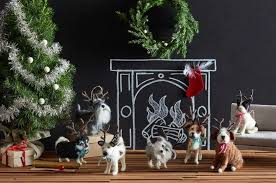 hound ornaments by roost burke decor