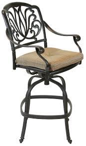 Solid Cast Aluminum Patio Furniture by Elizabeth Cast Aluminum Powder Coated 6pc Outdoor Patio Swivel Bar