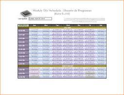Weekly Employee Shift Schedule Template Excel 7 Weekly Employee Schedule Template Authorization Letter