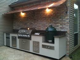 peerless outdoor kitchens big green egg with wall mounted kitchen