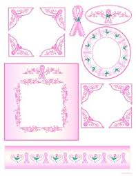free printable digital scrapbook template pages breast cancer