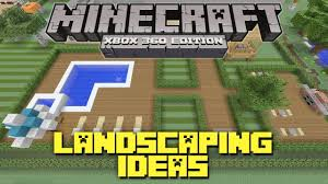 minecraft xbox 360 landscaping ideas and tutorial backyard
