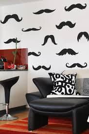 ironic mustache wall decals walltat