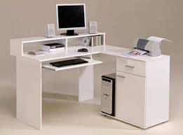 Corner Desk Keyboard Tray Furniture Modern White Computer Corner Desk With Keyboard Tray